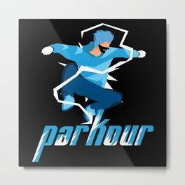 Parkour Runner Metal Print