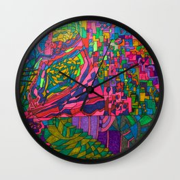 Many Exciting Shapes and Colors All in One Wall Clock