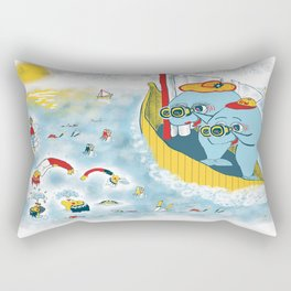 Look, honey!...the humans are migrating again!!! Rectangular Pillow