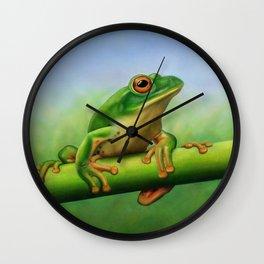 Moltrecht's Green Treefrog Wall Clock