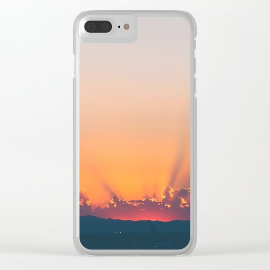 Sunrise x Sunset Clear iPhone Case