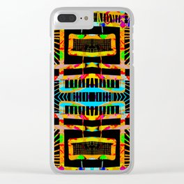 splatter paint design, modern abstract ladders Clear iPhone Case