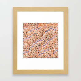 red topography Framed Art Print