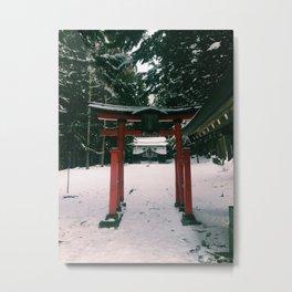 Nagano Shrine Metal Print