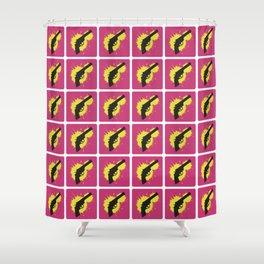 Bang Bang (Pink) Shower Curtain