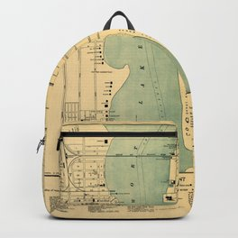 Map Of West Palm Beach 1907 Backpack