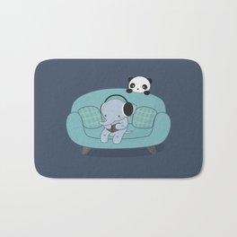Kawaii Elephant And Panda Bath Mat
