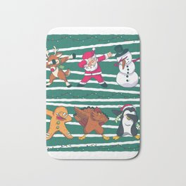 Dabbing Celebration Christmas Santa Teem Bath Mat
