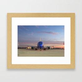 """A sunset with """"Beats"""" Framed Art Print"""