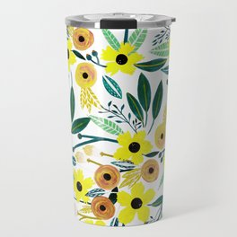 Pineapple Flowers Travel Mug