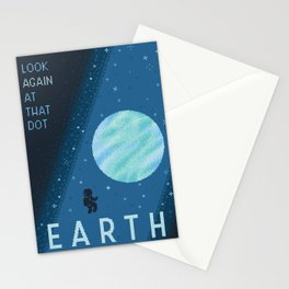 EARTH Space Tourism Travel Poster Stationery Cards