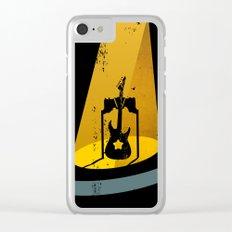 Rock Guitar Clear iPhone Case