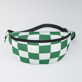 Checkered (Dark Green & White Pattern) Fanny Pack