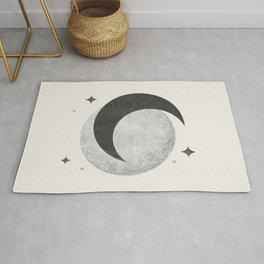 Moon Sparkle BW - Celestial Rug