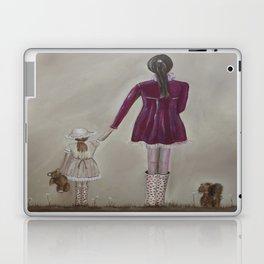 girl and dog Laptop & iPad Skin