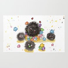 Hungry Soot Sprites  Rug