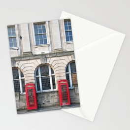 Old Red Telephone boxes Stationery Cards