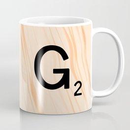 Scrabble Letter G - Scrabble Art and Apparel Coffee Mug