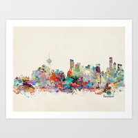vancouver Art Prints featuring Vancouver  by bri.buckley