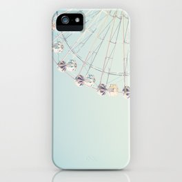 Soft blue ferris wheel  iPhone Case