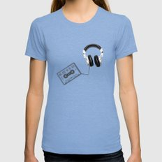 Music, please! Tri-Blue SMALL Womens Fitted Tee