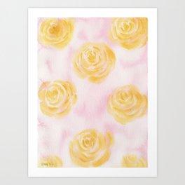 Soft Pastel Florals Art Print
