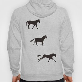 a horse runs Hoody
