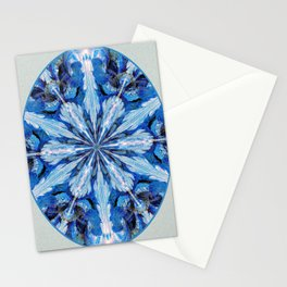 Blue Snowflake Stationery Cards