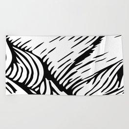woodcut Beach Towel