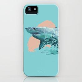 Shark Low Poly Art Print iPhone Case