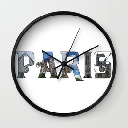 Paris Collage Wall Clock