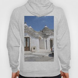 Trulli houses in Italy with vintage car Hoody