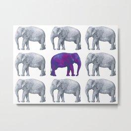 Elephants II Metal Print