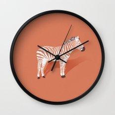 Animal Kingdom: Zebra I Wall Clock