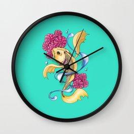 Koi 02 Wall Clock