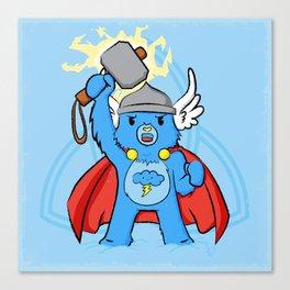 Thor, bear of thunder Canvas Print