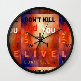 Stop War_02 by Victoria Deregus Wall Clock