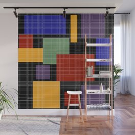 Multi-colored patchwork5 Wall Mural