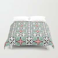baroque Duvet Covers featuring Modern Baroque by Darien Design