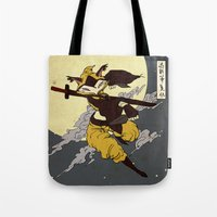 kitsune Tote Bags featuring Kitsune by PD Design Studio