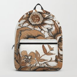 Coffee Art- Flowers Backpack