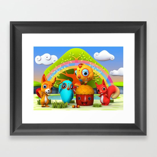 The Giant Acorn Framed Art Print