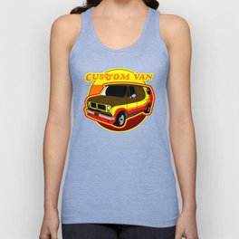 Groovy Custom Van 1970s Design Unisex Tank Top