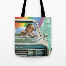 Rainbow Road Tote Bag