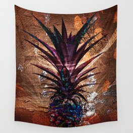 Copper Leaf Pineapple Art #buyart Wall Tapestry