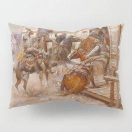 """""""In Without Knocking"""" by Charles M Russell Pillow Sham"""