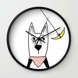 Dogs: Hanna Banana Wall Clock