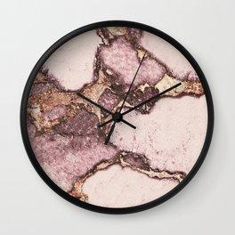 GEMSTONE AND GOLD BLUSH ROSE Wall Clock
