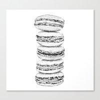 macaroon Canvas Prints featuring Macaroon by Elena Samarkina