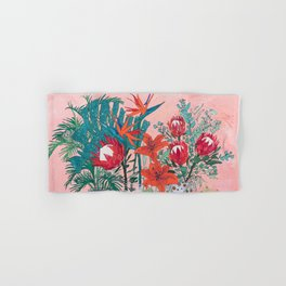 The Domesticated Jungle - Floral Still Life Hand & Bath Towel